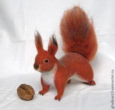 """Войлочная игрушка """"Белочка"""" - рыжий,авторская игрушка,войлочная игрушкаКузина Ольга (Gladoart) Украина, Днепропетровск"""