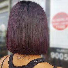A subtle dark plum infusion via @claritybeauty using…