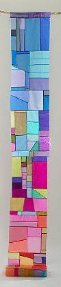 Joy is Entering the River, Yolanda Sanchez, 2011. Bojagi inspired textile; silk organza and sassafras, 156 X 18 inches