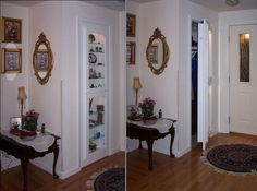 Great way to multi-function a coat closet!