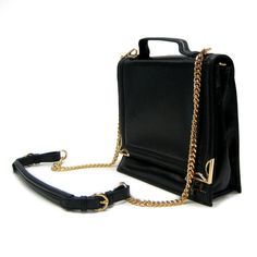 Annie Hall black leather purse