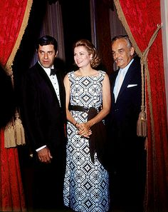 Prince and Princess of Monaco and Jerry Lewis