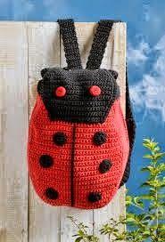 Crochet Back Pack Crochet Handbags, Crochet Purses, Crochet Dolls, Crochet Clothes, Love Crochet, Crochet For Kids, Crochet Baby, Knit Crochet, Crochet Crafts