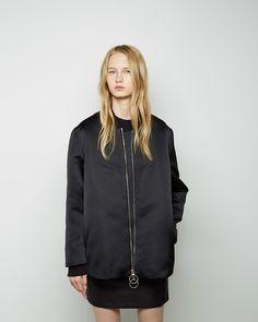 Acne Studios / Troy Satin Bomber, Acne Studios / Bird Fleece Cropped Pullover, Acne Studios / Kyte Satin Miniskirt #fw14