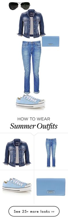 """""""Summer outfit """" by cammiehammie on Polyvore featuring maurices, rag & bone, Converse, DKNY and Ray-Ban"""