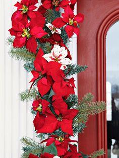 Holiday entrance garland