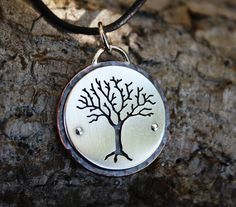 Tree of life pendant, sterling silver and copper pendant, nature jewelry, handmade,  Brianne  Love it A lot