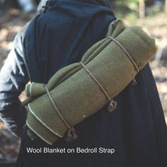 The easiest and most comfortable way to carry your bedroll! This strap turns any blanket, jacket, cloak or poncho into your on-the-move bundle! Don't worry about any more unraveling or sagging in your bedroll! Check out this video on how to use it! https://youtu.be/zGfTP54-XNg  Strap is