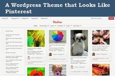 A Wordpress Theme that looks like Pinterest: The Pinsomo Theme.  #blogging