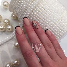 Evening dress nails, Evening french manicure, Evening nails, Festive nails, Ideas of evening nails, Matte nails, Party nails, ring finger nails