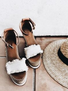 Canvas and Leather Espadrille Sandal