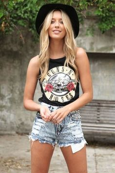 I would love to add some vintage rock t-shirts and tanks to my summer wardrobe.