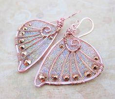 Sihaya Designs Faery Wing Earrings  Iridescent von SihayaDesigns, $46.00