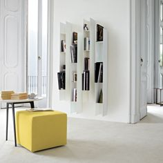 Lema | Interior | Yellow | Pouf | White | Bookcases | Design | Furniture