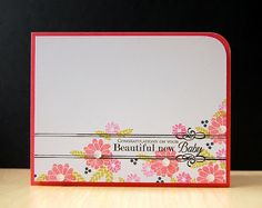 Beautiful New Baby Card by Cristina Kowalczyk for Papertrey Ink (May 2013)