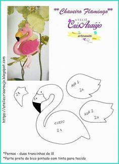 Flamingo felt craft pattern plushy