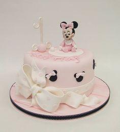 Emma Jayne Cake Design Plus Bolo Da Minnie Baby, Bolo Do Mickey Mouse, Mickey And Minnie Cake, Minnie Mouse Birthday Cakes, Mickey Cakes, First Birthday Cakes, Birthday Cake Girls, Happy Birthday, Baby Cakes