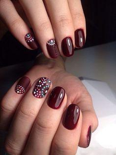 маникюр, дизайн ногтей, nail art, nail design, дотс маникюр, точечный дизайн ногтей, бордавый маникюр