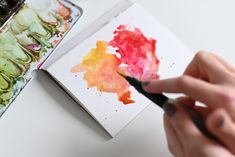 Watercolor, Lettering, Inspiration, Watercolors, New Inventions, Watercolor Background, Watercolor Painting, Cards, Pen And Wash