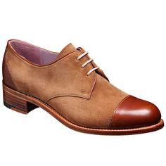 Barker Ladies Shoes – Kate – Brown Calf & Snuff Suede