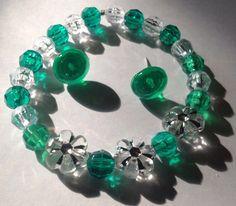 Handmade post earrings and bracelet