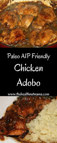 Paleo Chicken Adobo. AIP Friendly, Easy & Delicious! One of my new favorite ways to cook chicken!