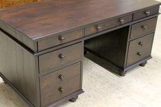 Gorgeous reclaimed wood work desk.