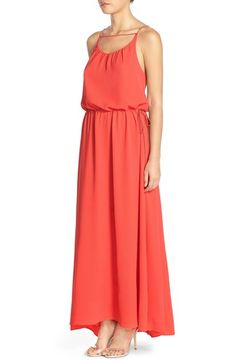 Free shipping and returns on Paper Crown by Lauren Conrad 'Carlsbad' Crepe Gown at Nordstrom.com. Adjustable tassel-tipped cords—one tethering the blouson bodice, the other cinching in the waist—bring free-spirited charm to an A-line gown styled with an open back.