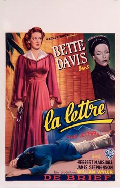 Actresses Bette Davis and Gale Sondergaard feature on a French poster for the…