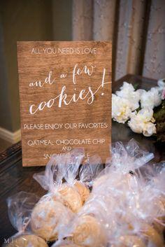 16 Most Inspiring Signage Ideas for Weddings (PHOTOS)   #aisle #bar #ceremony #cigar #decor #favor #reception #reserved #signage #wedding #whiskey   cookie favor signage