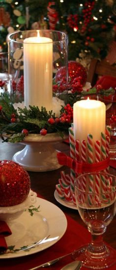 Rustic Holiday Decor candles