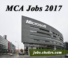 Apply Online for MCA Vacancies for Freshers #Education #Exams #Study #university #school #studying #student #Entrance #Career #Jobs #hiring #jobopening #jobposting #employment #opportunity #recruiting #jobsearch #joblisting #training #interview #onlineJobs #All #Information