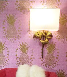 Royal Pineapple, SL210-01 / Heather Roberts Vignette at the Pantone Colors of the Year Installation, America's Mart Atlanta 2016