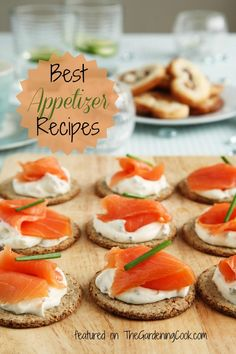 Start your holiday parties with one of these tasty appetizer recipes.  http://thegardeningcook.com/five-ideas-for-finger-foods/