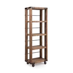 Rolling 4-Tiered Bookcase   dotandbo.com