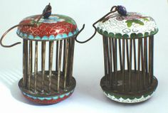 cricket cages | ... Products: Little Traditional Chinese Green Cloisonne Cricket Cage