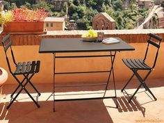 Arc En Ciel 334 - Antique iron varnished metal table, 110x70 cm, here matching with Arc En Ciel 314 chairs