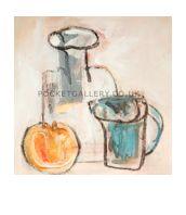 'Bottle Jug And Orange Apple' Hiawyn Oram