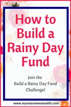 Start building your rainy day fund now and have plenty of extra money for back to school or holiday shopping at the end of the year!