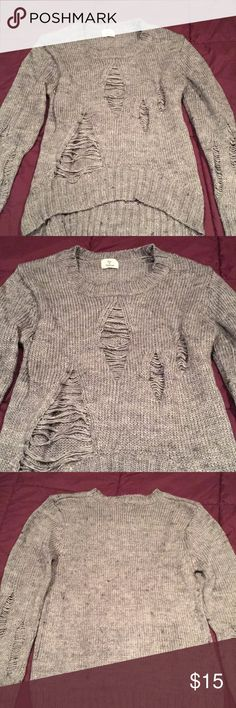 Distressed knit sweater Distressed knit sweater. Worn once, in perfect condition. Sweaters