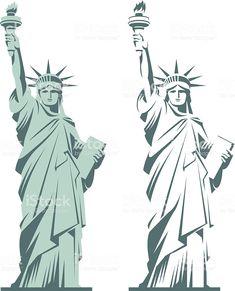 Statue of Liberty royalty-free stock vector art Statue Of Liberty Drawing, Statue Of Liberty Tattoo, Liberty Statue, Liberty Logo, Elephant Icon, Angel Vector, Cruise Scrapbook, Political Art, Silhouette Vector