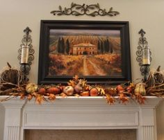 candle sconces...tuscan decor...fall decor