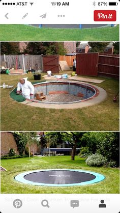 Completed Garden Designs And Construction With Sunken Trampoline