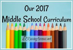 Our 2017 Middle school homeschool Curriculum choices
