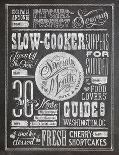 For kitchen... Chalkboard 'sandwich/specials board'