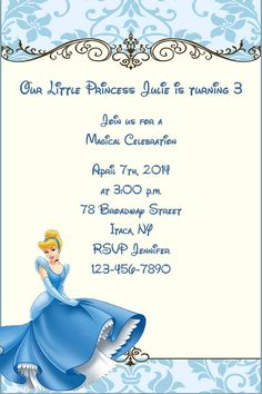 another free Cinderella invitation Princess Party Pinterest