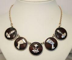 Vintage Egyptian necklace. Pharaoh. Nefertiti by chicvintageboutique on Etsy