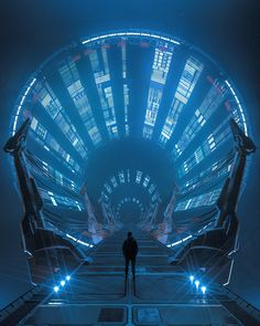 Sci Fi Kunst, Cyberpunk Kunst, Arte Sci Fi, Sci Fi Art, Futuristic Art, Futuristic Architecture, Gothic Architecture, Ancient Architecture, Science Fiction Kunst