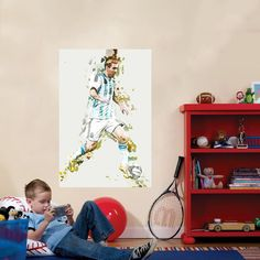 Lionel Messi Soccer Wall Decal - Soccer Fans Art - Argentina - Sports Wall Decals and Posters - FC Barcelona