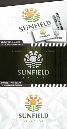 Sun Field - Logo Design Template Vector #logotype Download it here: http://graphicriver.net/item/sun-field-logo/14555987?s_rank=138?ref=nexion